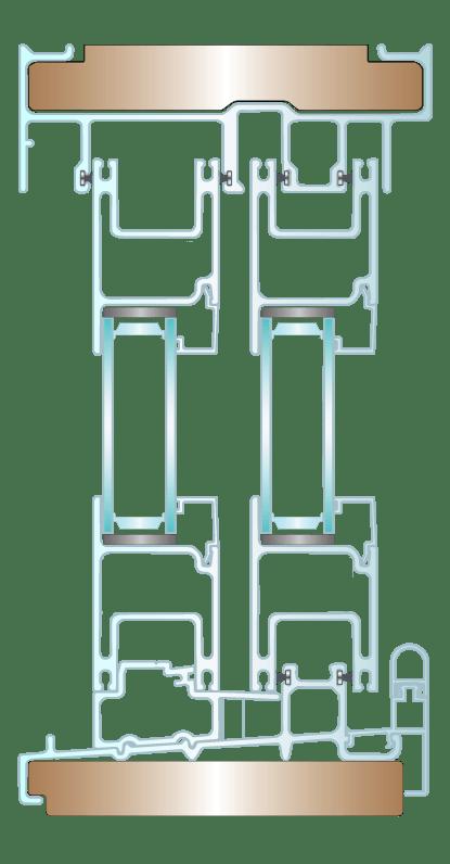 Fiberglass Sliding Door Cross Section