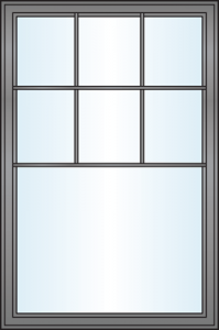 Window Grille Styles - Half Colonial