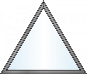 Custom Window Shapes - equal triangle
