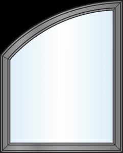 Custom Window Shapes - modified half eyebrow