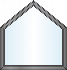 Custom Window Shapes - modified pentagon
