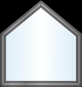 Custom Window Shapes - modified pentagon