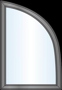 Custom Window Shapes - Modified Quarter Round